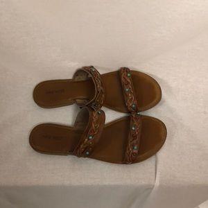 Nine West. Ladies size 12. Leather sandals
